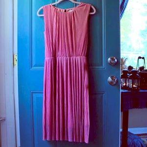 Pink H&M Accordion Pleat Dress